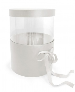 Pandora Adjustable Hatbox set of 2 White
