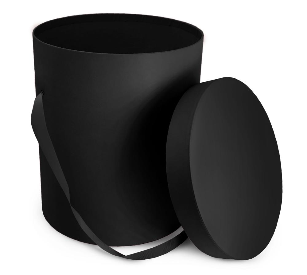 Pandora Classic Round Hatbox Set of 2 - Black