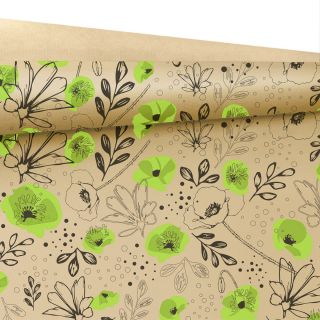 Fantasia Kraft Paper .80 x 40m Lilou Natural/Green