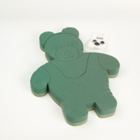 OASIS® FOAM FRAMES® Ideal Floral Foam Standing Teddy Bear with Eyes and Nose